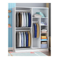 衣柜简约现代经济型组装实木板式衣柜推拉门柜子卧室移门衣橱 2门