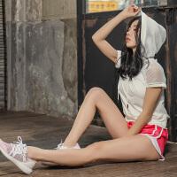 运动套装女夏季短袖罩衫速干网纱性感显瘦瑜伽健身服跑步套装