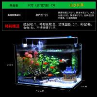真水草玻璃鱼缸水族箱小型客厅桌面迷你生态草缸装饰造景金鱼缸