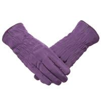 羽绒棉手套女冬季加厚保暖防寒加绒可爱学生骑车防水触屏滑雪手套新品 均码