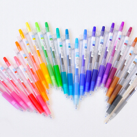 日本百乐juice彩色果汁笔10EF按动中性笔金属色套装笔芯0.5mm