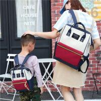 儿童闲旅牛津大容量电脑包手提妈咪包双肩包女男学生书包纯色旅行