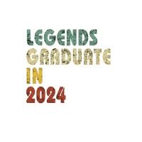 【预订】Legends graduate in 2024: Vintage Composition Notebook F