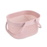 家用手提洗澡篮子浴室卫生间洗漱用品收纳篮沐浴篮镂空塑料收纳筐