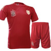 户外运动印号足球服套装批发2014世界杯西班牙队短袖足球服套装休闲服