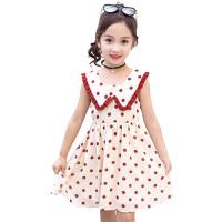 女童连衣裙夏装2019新款夏季超洋气网红童装中大儿童雪纺波点裙子