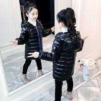 小女孩儿童轻薄羽绒女童棉衣冬装中长款洋气外套童装