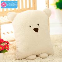 咔噜噜 方熊抱枕靠垫  毛绒玩具 大号礼品  情人节礼物