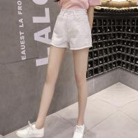 短裤女夏2018新款韩版时尚高腰宽松毛边显瘦学生热裤牛仔裤