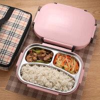 韩式304不锈钢带盖保温饭盒便当盒学生儿童成人食堂分格餐盒餐盘