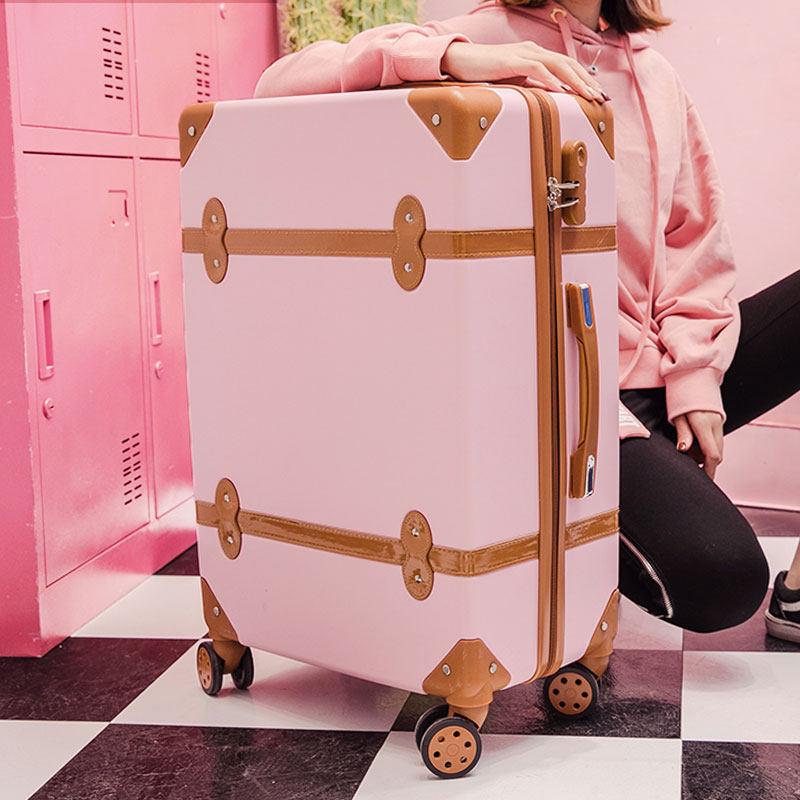 拉杆箱万向轮女24韩版小清新旅行箱20学生密码箱22复古行李箱26寸 发货周期:一般在付款后2-90天左右发货,具体发货时间请以与客服协商的时间为准