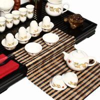 尚帝 白金龙 陶瓷茶具套装 整套功夫茶具茶盘套装42件TZ-M12K99