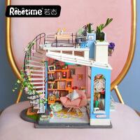 若态若来DIY小屋手工制作创意小房子模型别墅儿童节生日礼物品女DG12