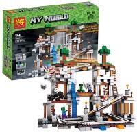 我的世界积木兼容乐高矿井村庄树屋人仔房子场景益智拼插儿童玩具 79074
