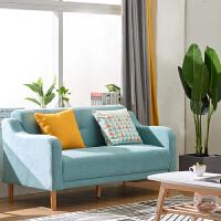 北欧沙发布艺现代简约小户型沙发阳台卧室单人双人三人服装店沙发