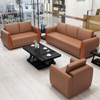 办公沙发简约现代商务接待沙发茶几组合套装办公室会议款沙发