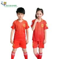 中国队儿童足球服短袖套装夏男女小学生队服童装球衣定制球服大童