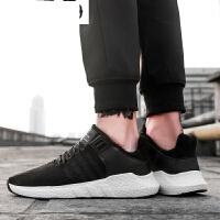 夏季男鞋内增高运动鞋男士休闲鞋韩版潮流板鞋飞织透气网面跑步鞋