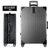 复古拉杆箱万向轮20寸行李箱登机箱24寸铝框拉杆箱28寸密码箱男女