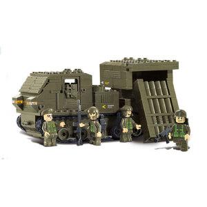 【当当自营】小鲁班陆军部队2军事系列儿童益智拼装积木玩具 卫士火箭炮M38-B0303