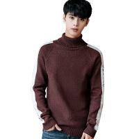 毛衣男秋冬季韩版修身男士半高领针织衫潮流青年羊毛衫薄学生线衣