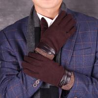 男士手套冬季韩版户外运动骑行触屏手套开车加厚保暖手套