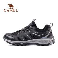 camel 骆驼户外鞋男女网面透气低帮耐磨轻便徒步运动登山鞋