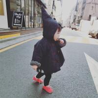 女童加厚斗篷外套2016秋冬装韩版宝宝外出服儿童婴幼儿棉衣