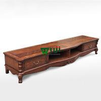 美式实木电视柜简约欧式电视柜组合家具客厅茶几