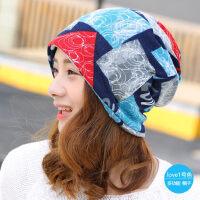 帽子女韩版潮包头帽时尚多用围脖头巾帽睡帽套头帽孕妇月子帽