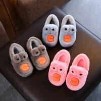 儿童棉鞋男童冬季加绒宝宝冬鞋宝宝棉鞋1-3岁棉拖鞋