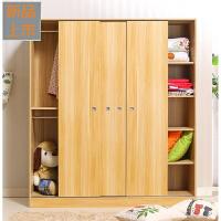简易衣柜实木质板式简约现代移门衣橱经济型234门组装推拉门柜子定制