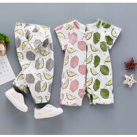 春夏季婴儿连体衣宝宝夏装新生儿纯棉衣服12薄款哈衣0-3-6个月1岁