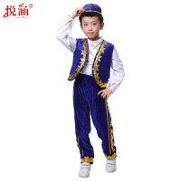 儿童演出服新疆少数民族表演服回族男童舞蹈服装
