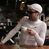 复古风格通勤骑游男士长袖上衣健身服 新款男子长袖骑行服上衣城市个性长袖