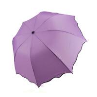 普润 日韩国创意太阳伞遮阳伞 防紫外线黑胶雨伞防晒彩虹伞 紫色