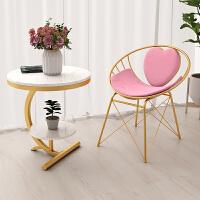 粉色椅子 卧室少女心梳妆台化妆椅美甲凳子靠背公主椅北欧ins