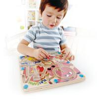 Hape快乐农场迷宫立体磁性儿童益智早教玩具E1702
