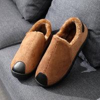 厚底加绒情侣冬季棉鞋男士棉拖鞋简约包跟保暖室外防滑