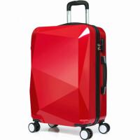 果糖色韩版立体3D钻石面PC拉杆箱 时尚静音万向轮旅行行李箱拉杆箱