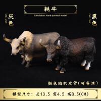 犀牛*奶牛水牛耗牛公牛模型儿童实心仿真动物模型玩具