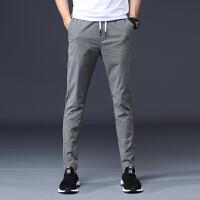 春天超薄冰丝西装裤子男装商务修身型小脚正装长裤休闲裤