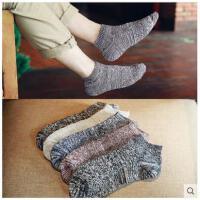 袜子男士棉袜短袜子四季粗线原宿风条纹袜防臭袜日系自由进线短袜