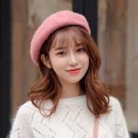 户外运动羊毛呢贝雷帽子女复古百搭画家帽韩版英伦文艺南瓜蓓蕾帽