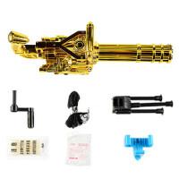 黄金加特琳玩具枪连发加特林机枪电动水珠弹枪水单