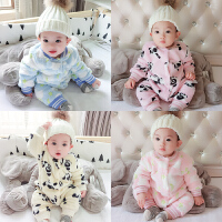 20180428060849283婴儿连体衣服加厚新生儿宝宝外出冬季6新年冬装3外套装棉衣0个月1