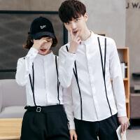 甜品店女服务员工作服韩国料理制服奶茶店长袖衬衫工装咖啡馆衣服