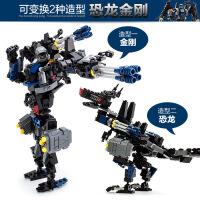 古迪 新乐新益智拼插积木 变形人-恐龙机器人儿童早教玩具新