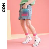 【2件3折价:116】MQD童装女童牛仔短裤2021夏季新款洋气牛仔短裤外穿女孩休闲热裤