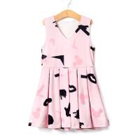 女童连衣裙牛奶丝休闲童装连衣裙欧美儿童裙装可爱小女孩背心裙LD